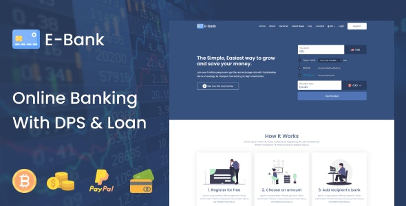 E-Bank v1.2 – Complete Online Banking System With DPS & Loan