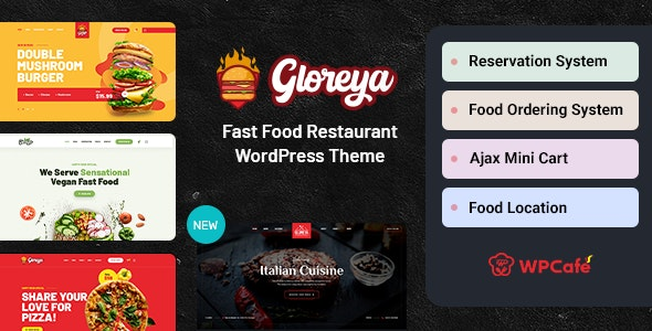 Gloreya v2.0.5 – Fast Food WordPress Theme