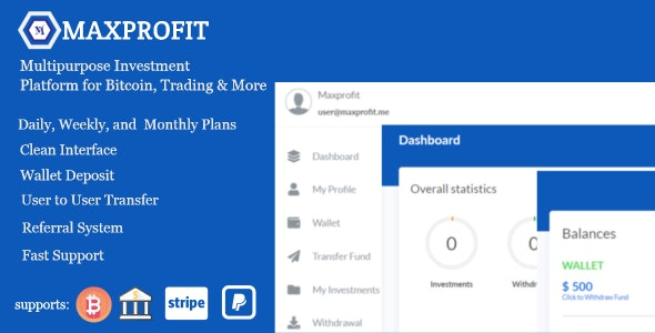 Max Profit v5.2 – Online Multipurpose Investment Platform – nulled
