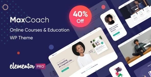 MaxCoach v2.5.0 – Online Courses & Education WP Theme