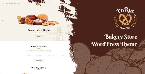 Porus v1.0.5 – Bakery Store WordPress Theme