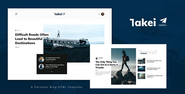 Takei v1.0 – Blog and Magazine HTML Template