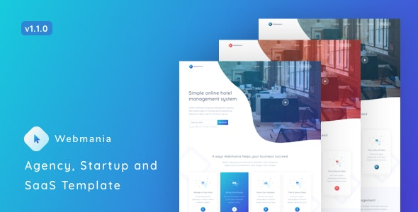Webmania v1.1.0 – Agency, Startup and SaaS Template