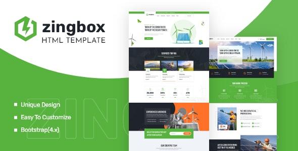 Zingbox v1.0 – Wind & Solar Energy HTML Template