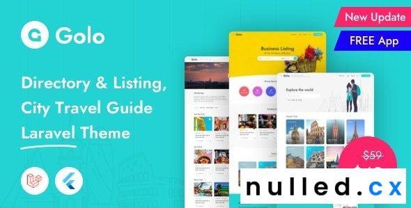 Golo v1.2.0 – Directory & Listing, City Travel Guide Laravel Theme